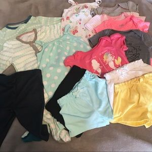 Baby Girl Size 0-3 Months Bundle of Play Clothes